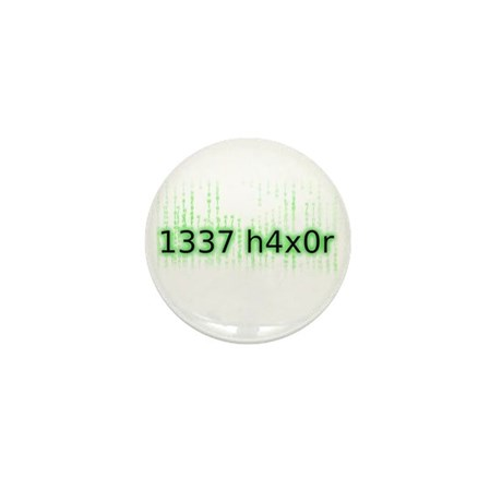1337 h4x0r Mini Button