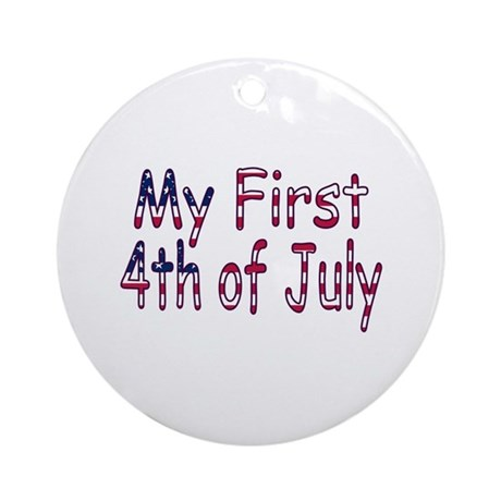 Baby First 4th of July Ornament (Round)