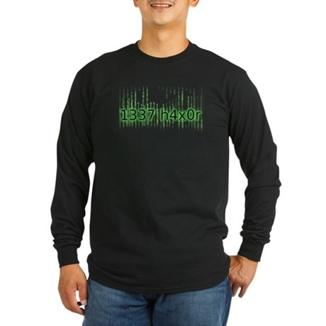 1337 h4x0r Long Sleeve Dark T-Shirt
