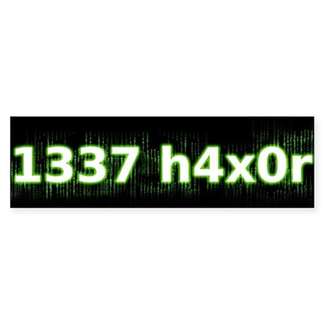 1337 h4x0r Bumper Sticker