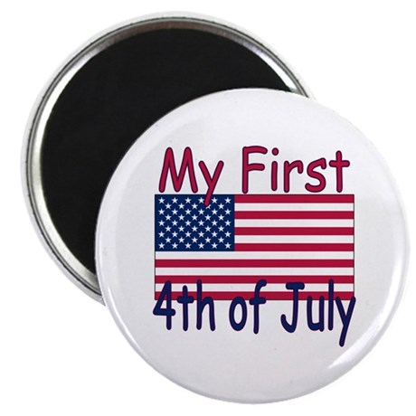 "Baby's First 4th of July 2.25"" Magnet (100 pack)"