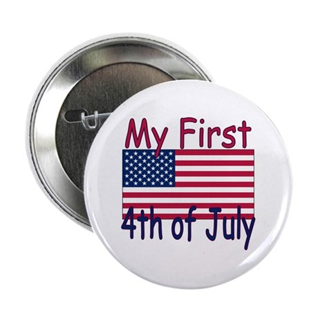 Baby's First 4th of July Button
