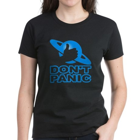 Hitchhiker's - Don't Panic Womens T-Shirt