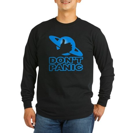 Hitchhiker's - Don't Panic Long Sleeve Dark T-Shir