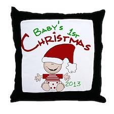 Santa Baby 1st Christmas 2013 Throw Pillow