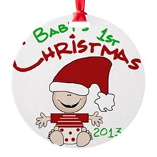 Santa Baby 1st Christmas 2013 Ornament