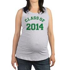 Class Of 2014 Green Maternity Tank Top