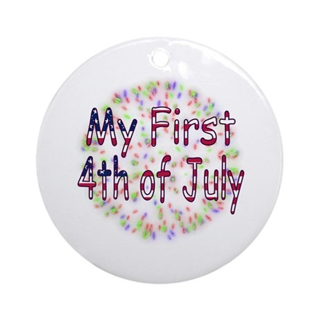 Baby First July 4th Ornament (Round)