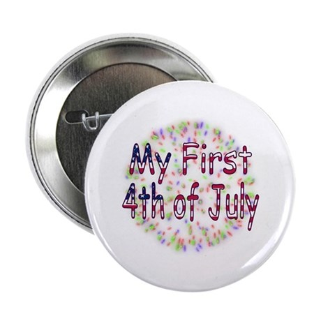 "Baby First July 4th 2.25"" Button (100 pack)"