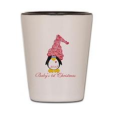 Girl Penguin 1st Christmas Shot Glass