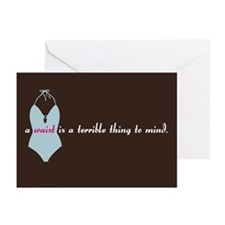"""""""a waist is..."""" Greeting Cards-Pk of 10"""