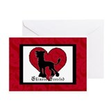Chinese Crested Heart Greeting Cards (Pk of 10