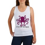 O is for Octopus Women's Tank Top