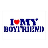 I heart my Boyfriend Postcards (Package of 8)