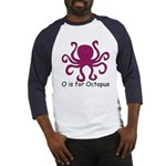 O is for Octopus Baseball Jersey