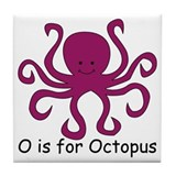 O is for Octopus Tile Coaster