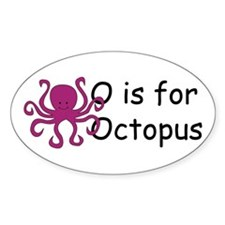 O is for Octopus Oval Decal