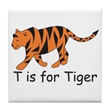 T is for Tiger Tile Coaster