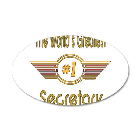 GREENSECRETARY.png 20x12 Oval Wall Decal