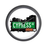 Cypress Av, Bronx, NYC  Wall Clock