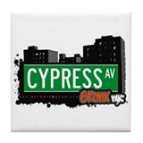 Cypress Av, Bronx, NYC  Tile Coaster