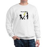 You Are Here 3some Sweatshirt