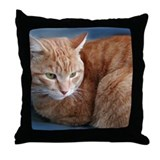 Unique Orange cat Throw Pillow