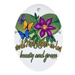 Butterflymotherinlaw.png Ornament (Oval)