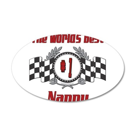 Racing1NANNY.png 20x12 Oval Wall Decal