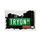 Tryon Av , Bronx, NYC Rectangle Magnet (10 pack)
