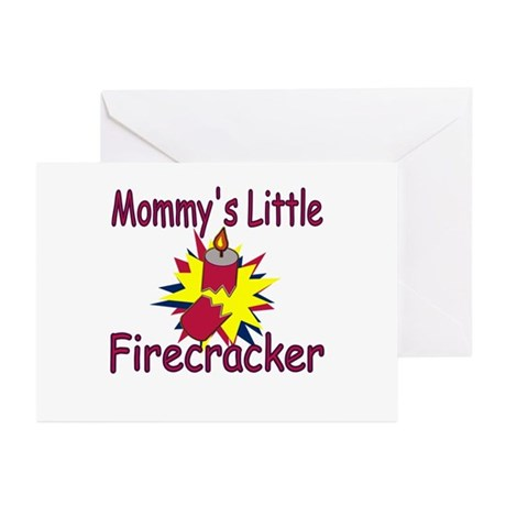 Mommy's Little Firecracker Greeting Cards (Package