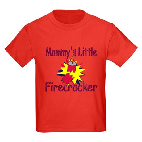 Mommy's Little Firecracker Kids Dark T-Shirt