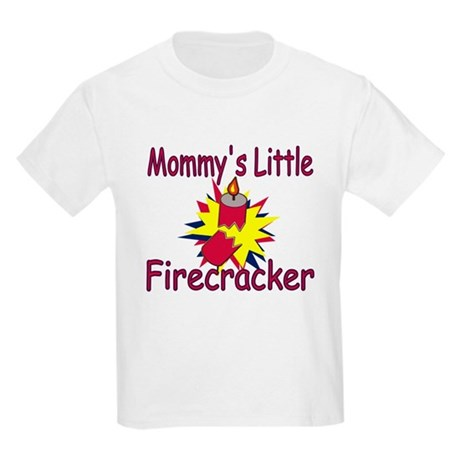 Mommy's Little Firecracker Kids Light T-Shirt