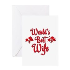 10x10_apparelworldsbestwife.jpg Greeting Card