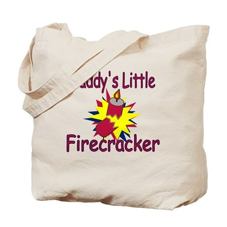 Daddy's Little Firecracker Tote Bag