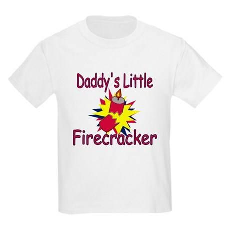 Daddy's Little Firecracker Kids Light T-Shirt