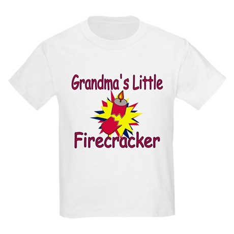 Grandma's Little Firecracker Kids Light T-Shirt