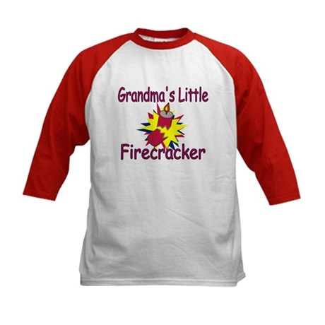 Grandma's Little Firecracker Kids Baseball Jersey