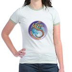 Magic Moon Dragon Jr. Ringer T-Shirt