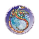 Magic Moon Dragon Ornament (Round)