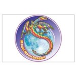 Magic Moon Dragon Large Poster
