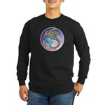 Magic Moon Dragon Long Sleeve Dark T-Shirt