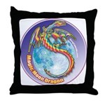 Magic Moon Dragon Throw Pillow