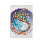 Magic Moon Dragon Rectangle Magnet