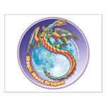 Magic Moon Dragon Small Poster