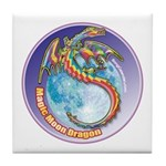 Magic Moon Dragon Tile Coaster
