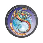 Magic Moon Dragon Wall Clock