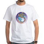 Magic Moon Dragon White T-Shirt