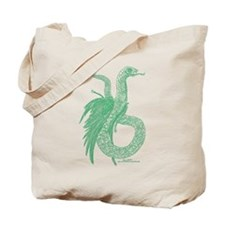 Jade Feathered Serpent Tote Bag