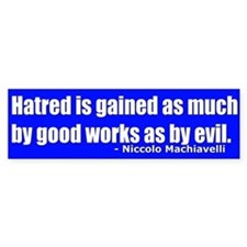Why Do They Hate Us Bumpersticker
